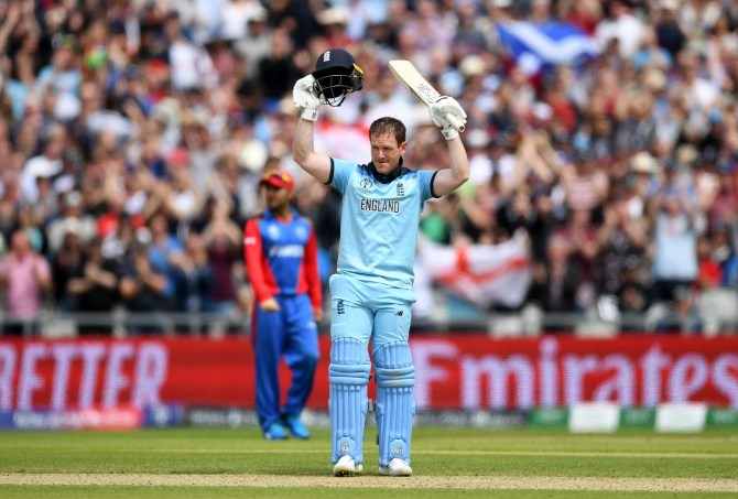 Eoin Morgan 148 England Afghanistan World Cup 24th Match Manchester cricket