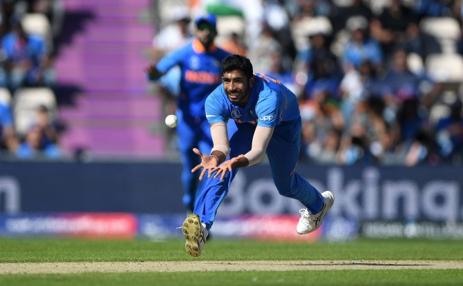 Jasprit Bumrah two wickets India Afghanistan World Cup 28th Match Southampton cricket