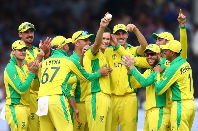 Jason Behrendorff five wickets Australia England World Cup 32nd Match Lord's cricket