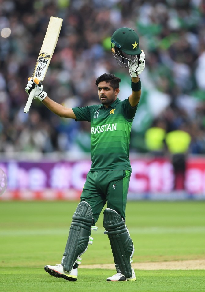Babar Azam honoured Pakistan Prime Minister Imran Khan praised him after his unbeaten 101 against New Zealand World Cup cricket