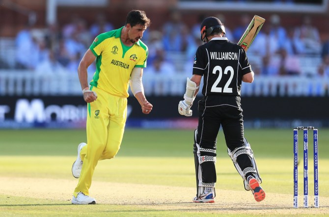 Mitchell Starc five wickets Australia New Zealand World Cup 37th Match Lord's cricket