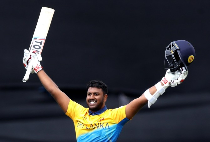 Avishka Fernando 104 Sri Lanka West Indies World Cup 39th Match Durham cricket