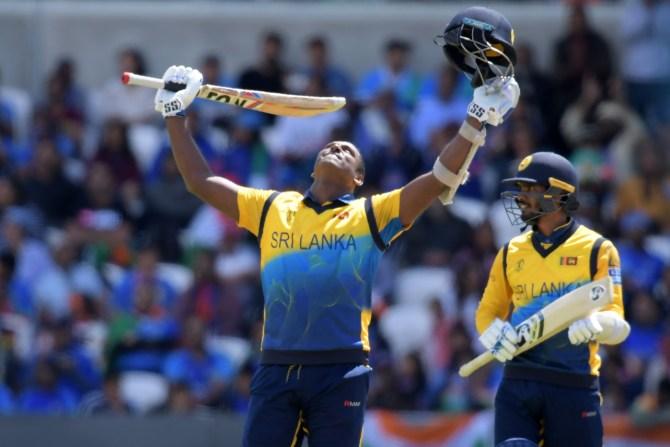 Angelo Mathews 113 India Sri Lanka World Cup 44th Match Headingley cricket