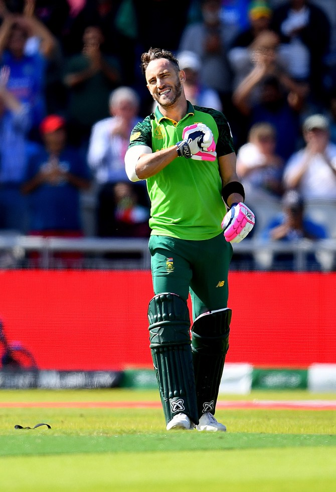 Faf du Plessis 100 South Africa Australia World Cup 45th Match Manchester cricket