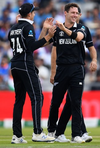 Matt Henry three wickets New Zealand India World Cup semi-final Manchester cricket