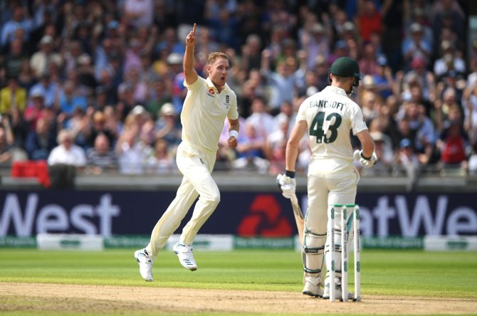 Stuart Broad five wickets England Australia 1st Ashes Test Day 1 Edgbaston cricket