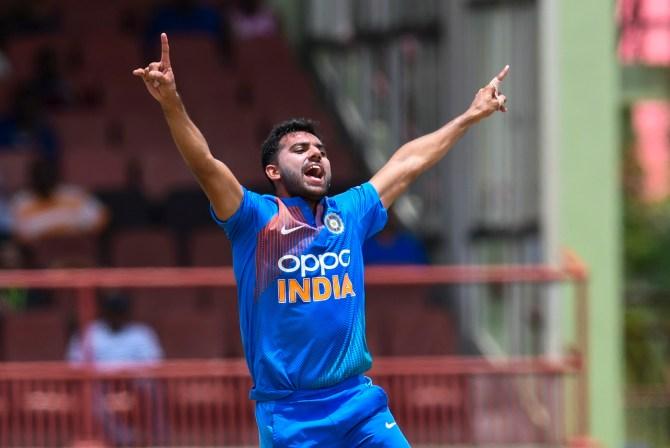 Deepak Chahar three wickets West Indies India 3rd T20 Guyana cricket