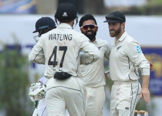 Ajaz Patel five wickets Sri Lanka New Zealand 1st Test Day 2 Galle cricket