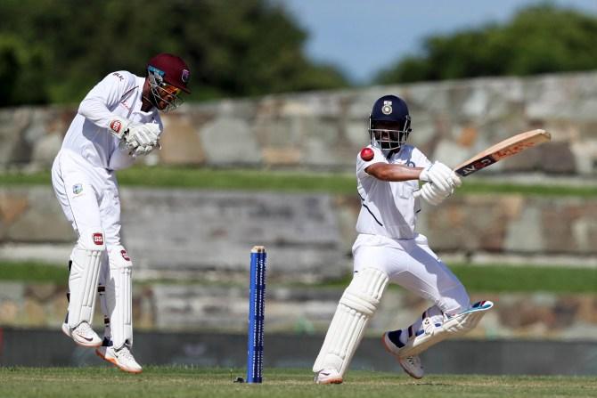 Ajinkya Rahane 81 West Indies India 1st Test Day 1 Antigua cricket