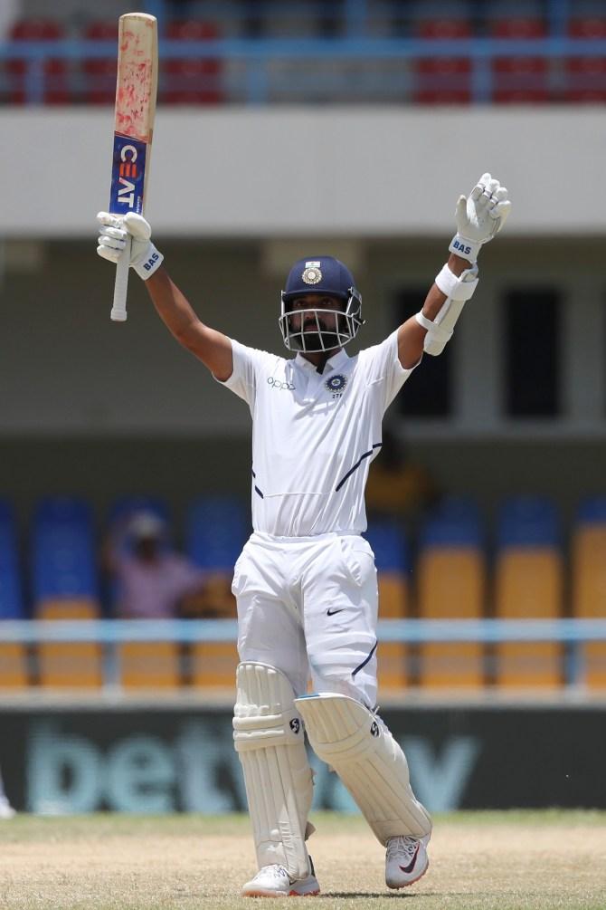 Ajinkya Rahane 102 West Indies India 1st Test Day 4 Antigua cricket