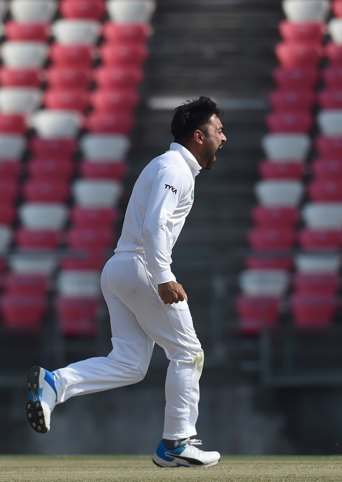 Rashid Khan 51 and four wickets Bangladesh Afghanistan Only Test Day 2 Chattogram cricket