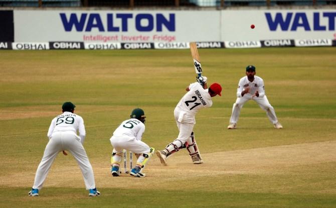 Ibrahim Zadran 87 Bangladesh Afghanistan Only Test Day 3 Chattogram cricket