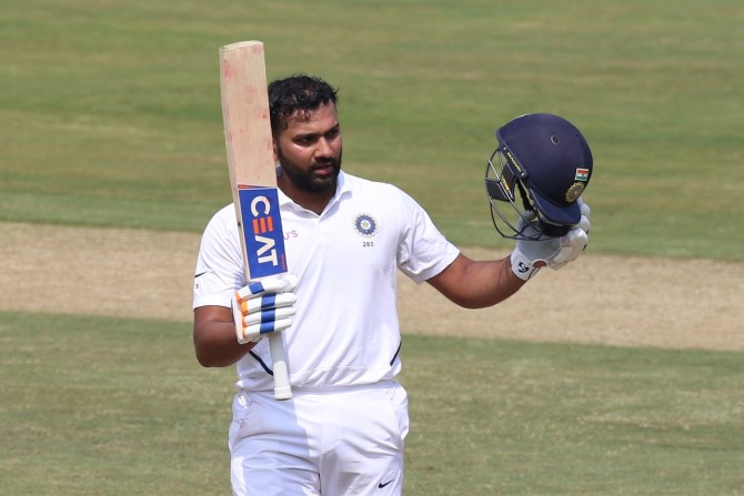 Rohit Sharma 115 not out India South Africa 1st Test Day 1 Visakhapatnam cricket