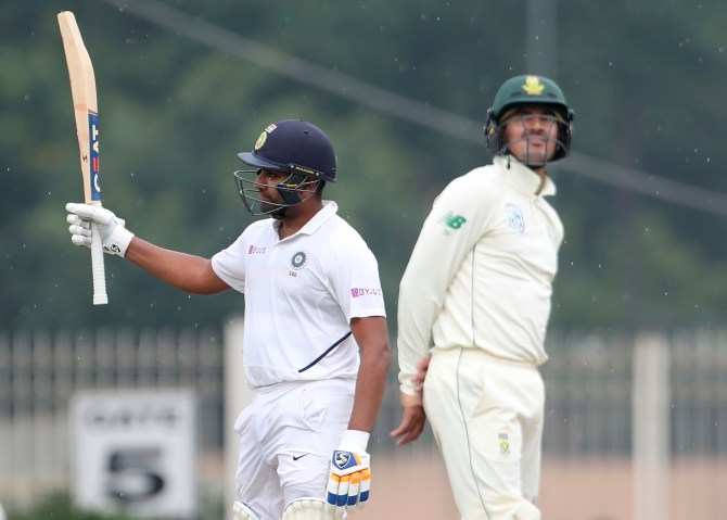 Rohit Sharma 117 not out India South Africa 3rd Test Day 1 Ranchi cricket