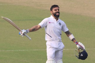 Virat Kohli 136 India Bangladesh 2nd Test Day 2 Kolkata cricket