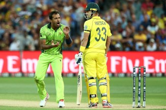 Shane Watson thanked Wahab Riaz for going easy on him