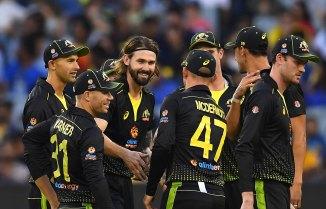 Kane Richardson three wickets Australia Pakistan 3rd T20 Perth cricket