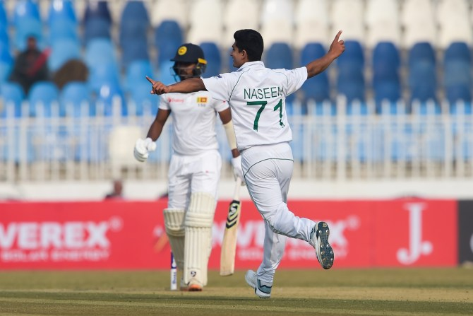 Pakistan bowlers carve through Sri Lanka's batting line-up on 1st day of 1st Test against Sri Lanka Rawalpindi cricket