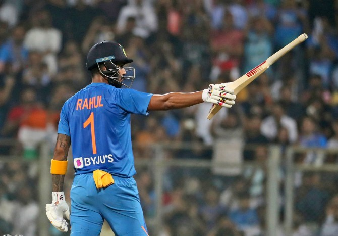 Lokesh Rahul 91 India vs West Indies 3rd T20 Mumbai cricket