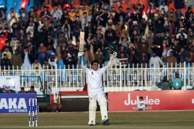 Abid Ali became the first player in history to score a century on ODI and Test debut Pakistan Sri Lanka 1st Test Day 5 Rawalpindi cricket