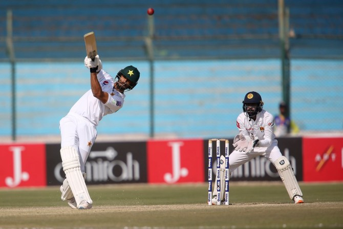Shan Masood reveals Pakistan aiming to set Sri Lanka a target of 450 to 500 in the second Test in Karachi cricket