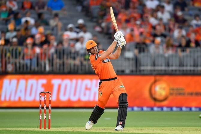 Mitchell Marsh 56 not out Perth Scorchers Melbourne Renegades Big Bash League BBL 7th match cricket