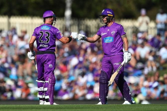 D'Arcy Short 60 Hobart Hurricanes Melbourne Renegades Big Bash League BBL 11th Match cricket