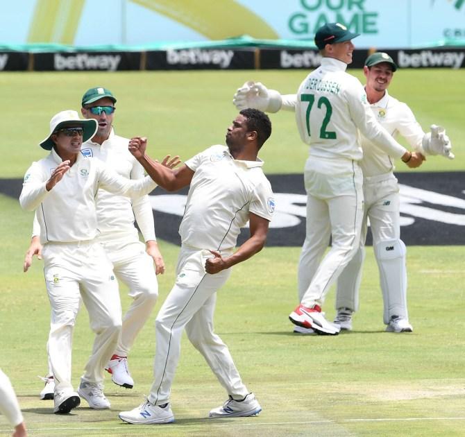 Vernon Philander four wickets South Africa England 1st Test Day 2 Centurion cricket