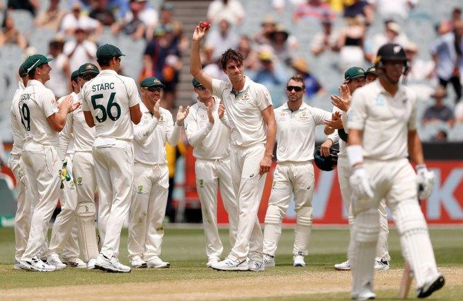 Pat Cummins five wickets Australia New Zealand 2nd Test Day 3 Melbourne cricket