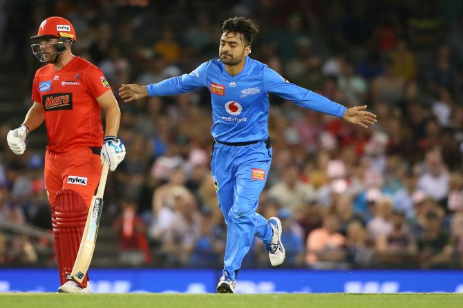 Rashid Khan two wicket Adelaide Strikers Melbourne Renegades Big Bash League BBL 15th Match cricket