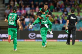 Sandeep Lamichhane three wickets Melbourne Stars Melbourne Renegades Big Bash League BBL 22nd Match cricket
