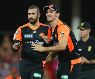 Fawad Ahmed three wickets Perth Scorchers Brisbane Heat Big Bash League BBL 18th Match cricket