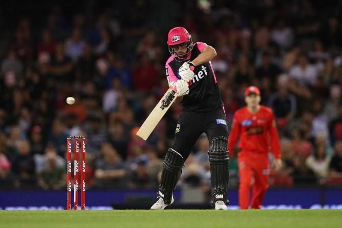 James Vince 41 Sydney Sixers Melbourne Renegades Big Bash League BBL 20th Match cricket