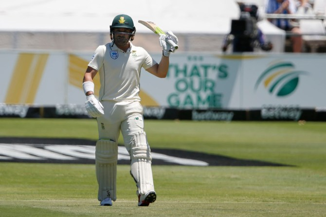 Dean Elgar 88 South Africa England 2nd Test Day 2 Cape Town cricket