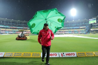 Heavy rain and a wet outfield led to the first T20 International between India and Sri Lanka in Guwahati being abandoned without a ball bowled cricket