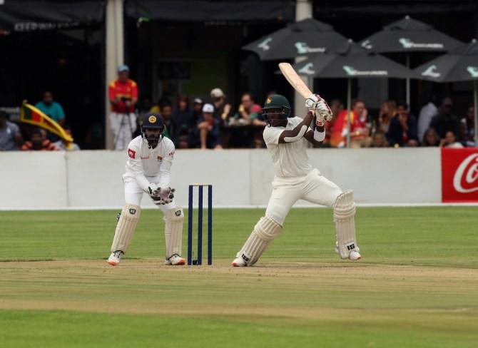 Kevin Kasuza 63 Zimbabwe Sri Lanka 1st Test Day 1 Harare cricket