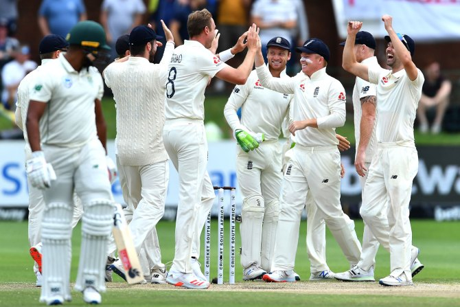 England won 3rd Test by an innings and 53 runs and took a 2-1 lead in the series South Africa cricket