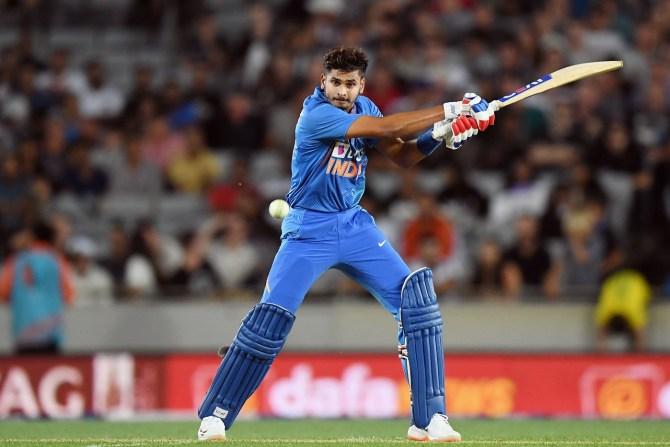 Shreyas Iyer 58 not out New Zealand India 1st T20 Auckland cricket