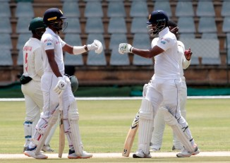 Sri Lanka make steady start after Zimbabwe bowled out for 406 2nd Test Day 2 Harare cricket