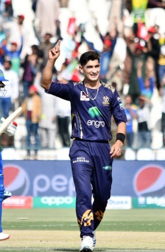 Naseem Shah not thinking about breaking Shoaib Akhtar's record for the fastest ball in cricket history Quetta Gladiators Pakistan Super League PSL cricket
