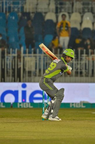 Fakhar Zaman frustrated for not scoring more runs in the Lahore Qalandars' loss to the Peshawar Zalmi Pakistan Super League PSL cricket