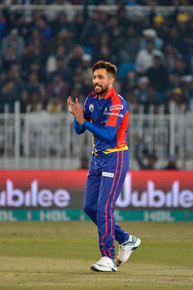 Mohammad Amir dedicated his Man of the Match award to all the Karachi fans who have always supported him Karachi Kings Peshawar Zalmi Pakistan Super League PSL cricket