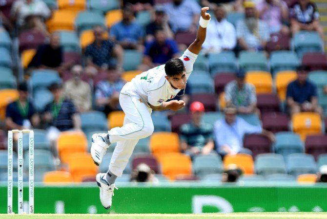 Imam-ul-Haq retired hurt after being struck on the hand by a delivery from Naseem Shah Pakistan cricket