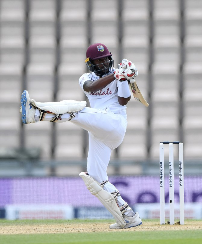 Jermaine Blackwood 95 England West Indies 1st Test Day 5 four-wicket win 1-0 Southampton cricket