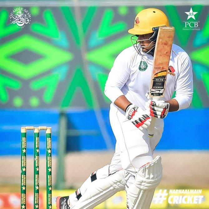 Pakistan batsman Sharjeel Khan said he doesn't have a weakness outside off-stump