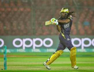 Chris Gayle said he never thought he would play with Sarfaraz Ahmed