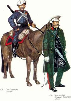 Russian Cossack and Dragoon, 1877 (Boris and John Mollo)