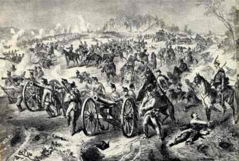 The Saxon and Austrian gun line near Problus.