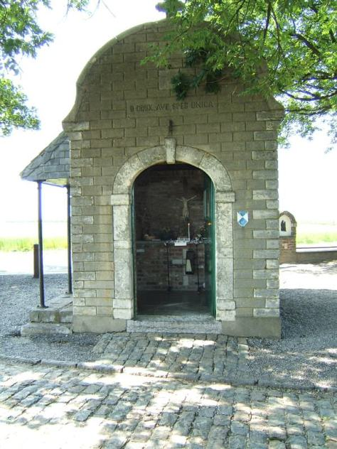 Small chapel marking the position of the Austrian commander, The Prince of Saxe-Coburg.