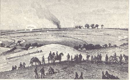 General View of the Battle of Antietam. From a sketch made at the time.
